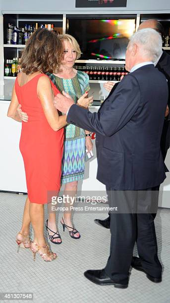 Ana Rosa Quintana Paolo Vasile and Esperanza Aguirre attend El Programa de Ana Rosa's 10th anniversary party on June 26 2014 in Madrid Spain