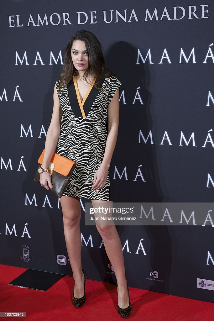 Ana Rujas attends the 'Mama' premiere at the Callao cinema on February 4, 2013 in Madrid, Spain.