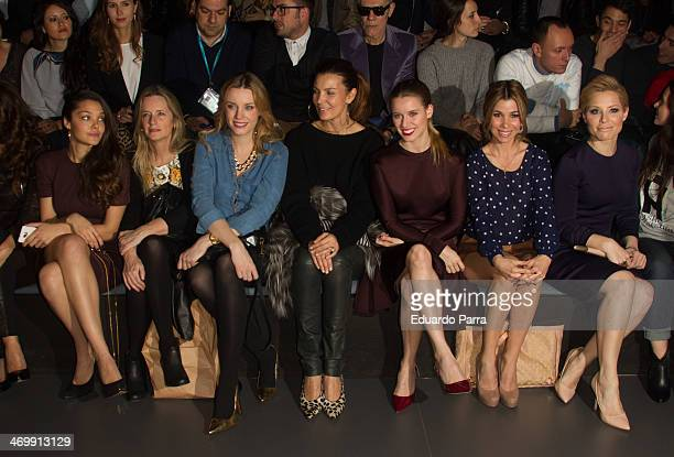 Ana Rujas Carolina Bang Mar Flores Manuela Velles Natalia Rodriguez and Soraya Arnelas attend Mercedes Benz Fashion Week Madrid W/F 2014 at Ifema on...