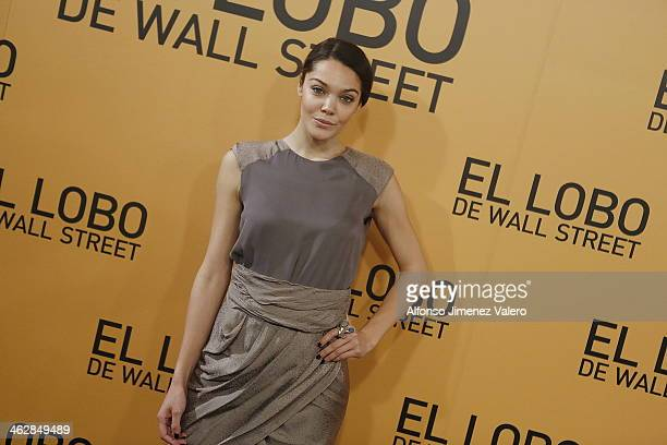 Ana Rujas 'The Wolf of Wall Street' Madrid Premiere on January 15 2014 in Madrid Spain