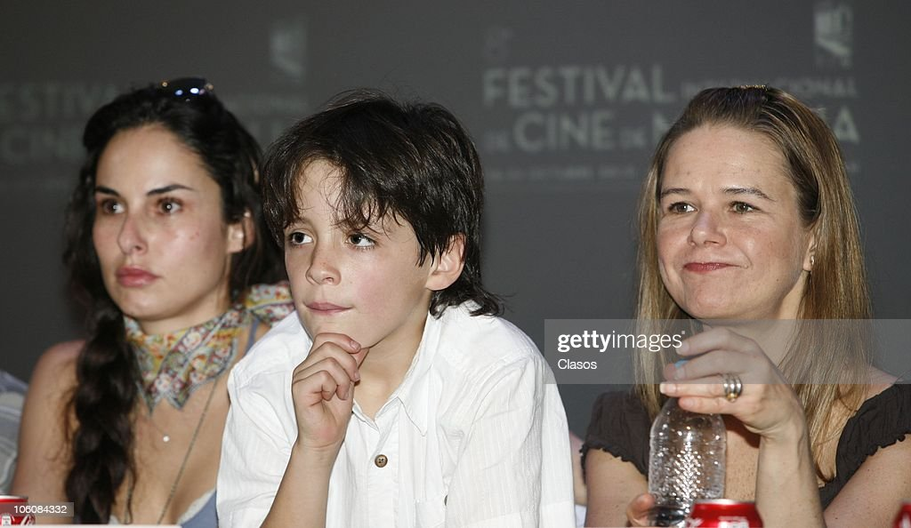 Ana Serradilla and Naelea Norvind of the movie La Otra Familia, during a press conference as part of the 8th Morelia International Film Festival on October 23, 2010 in Morelia, Mexico.