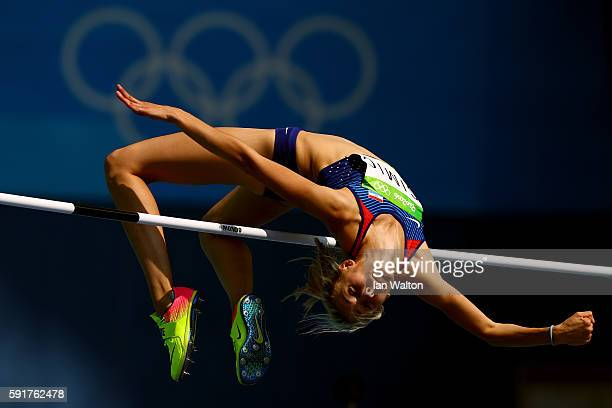 Ana Simic of Croatia competes in Women's High Jump Qualifying on Day 13 of the Rio 2016 Olympic Games at the Olympic Stadium on August 18 2016 in Rio...