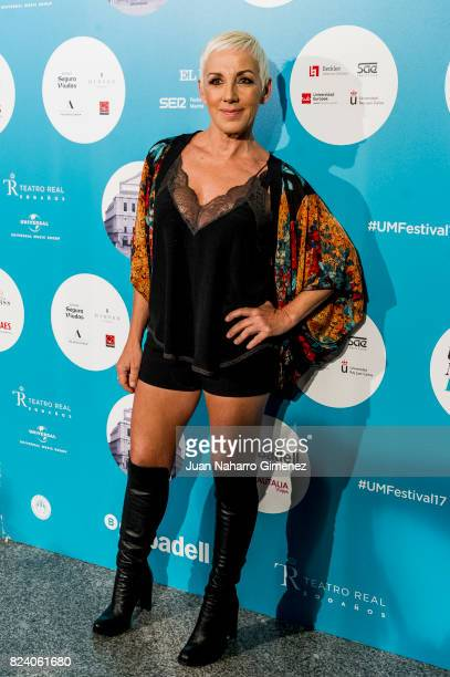 Ana Torroja attends Rosaio concert at Teatro Real on July 28 2017 in Madrid Spain