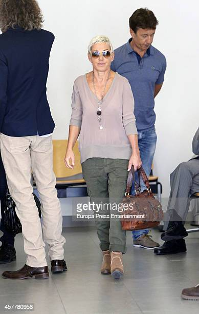 Ana Torroja is seen attending the Cadiz Court on October 24 2014 in Cadiz Spain