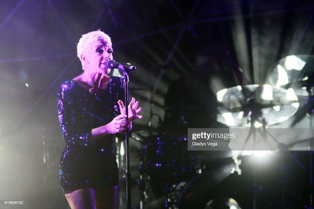 Ana Torroja performs as part of her tour 'Conexion' on July 16, 2017 at Centro de Bellas Artes in San Juan, Puerto Rico.
