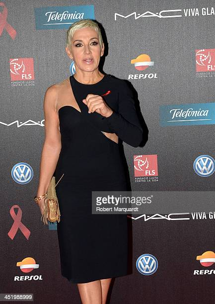 Ana Torroja poses during a photocall for the '4th Annual Gala Sida Barcelona 2013' held at the El Museo Nacional de Arte de Catalunya on November 25...