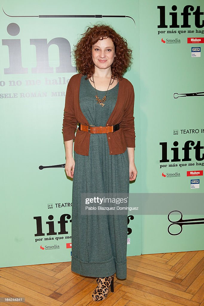 Ana Villa attends the 'Lifting' premiere at Infanta Isabel Theatre on March 21, 2013 in Madrid, Spain.