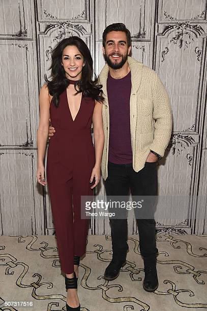 Ana Villafane and Josh Segarra attend AOL Build Presents 'On Your Feet' at AOL Studios In New York on January 28 2016 in New York City