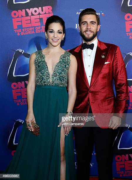 Ana Villafane and Josh Segarra attend 'On Your Feet' Broadway Opening Night after party at Marquis Theatre on November 5 2015 in New York City