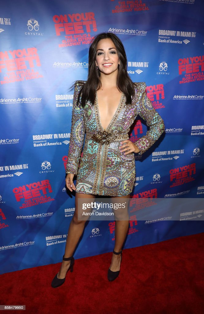 Ana Villafane attends 'On Your Feet!' National Tour Opening Nightat Adrienne Arsht Center on October 6, 2017 in Miami, Florida.