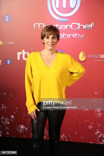 Anabel Alonso attends 'MasterChef Celebrity' 2 presentation on September 14 2017 in Madrid Spain