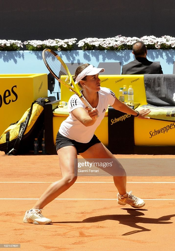 Anabel Medina, ESP, in 'Mutua Madrilena Madrid Open' of tennis, 8th May 2010, in 'La Caja Magica'. Madrid, Spain.