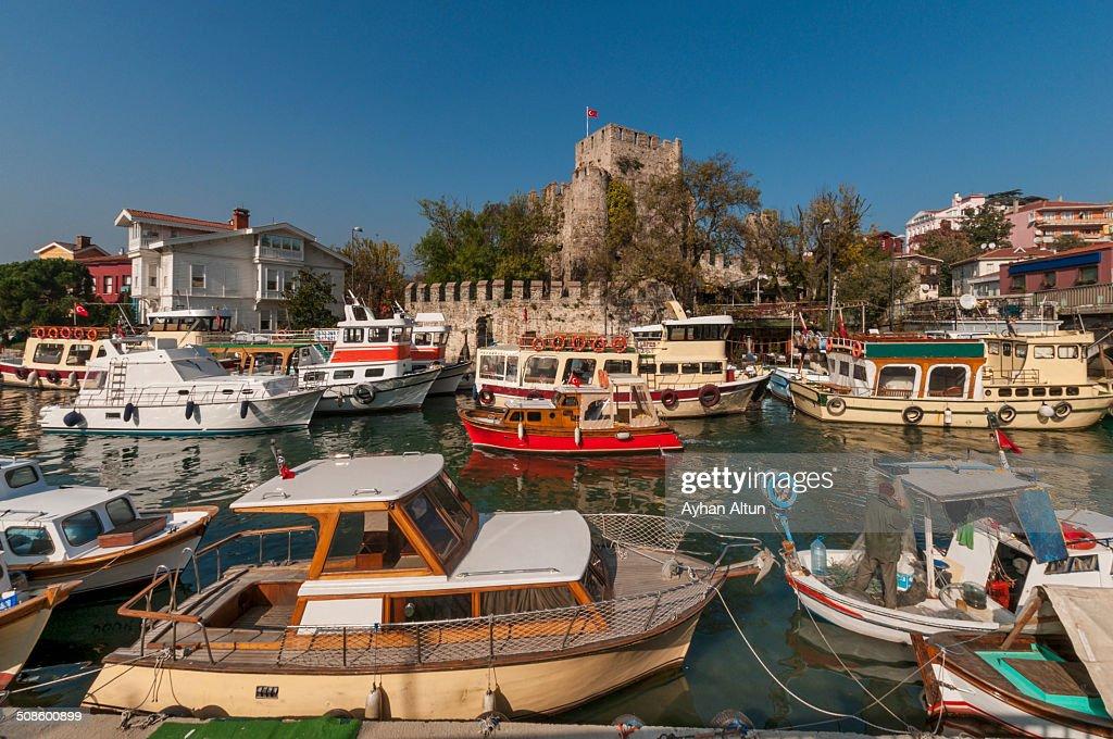 Anadoluhisari fortress in Istanbul,Turkey : Stock Photo