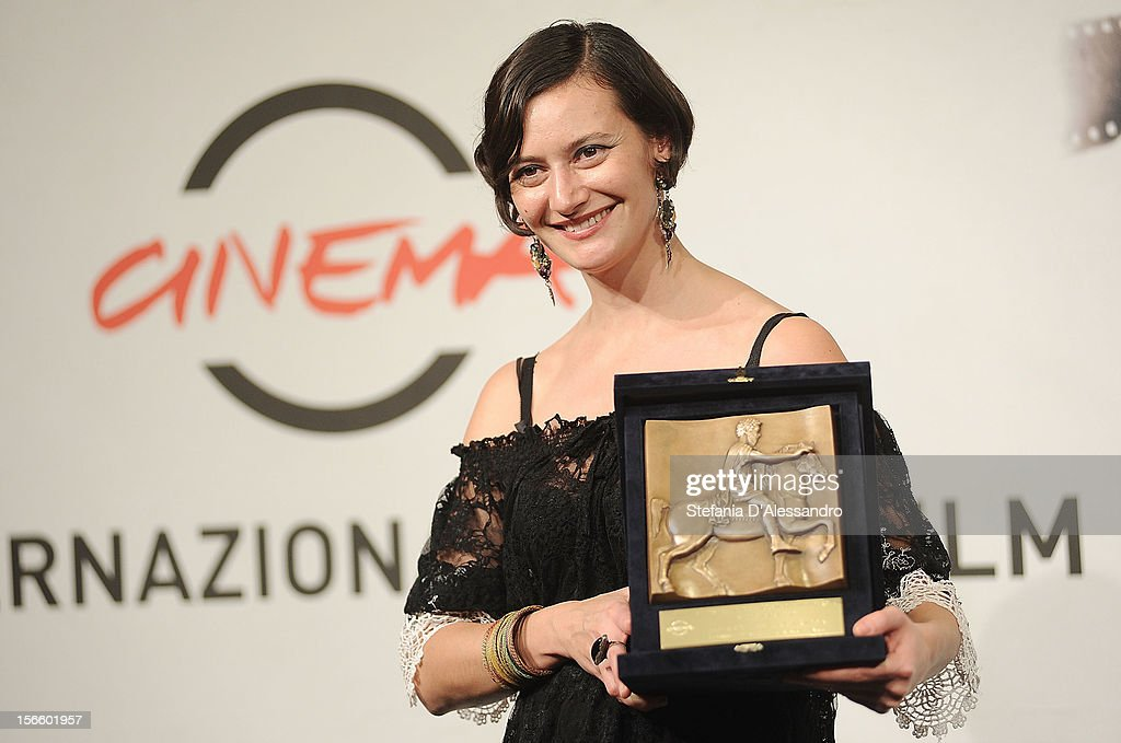 Ana-Felicia Scutelnicu poses with his Special Mention during the Award Winners Photocall on November 17, 2012 in Rome, Italy.