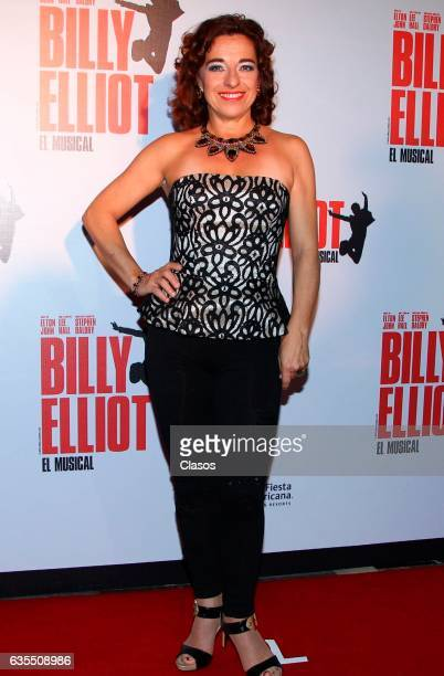 Anahí Allue poses for the camera during the opening night of Billy Elliot Music Show on February 15 2017 in Mexico City Mexico