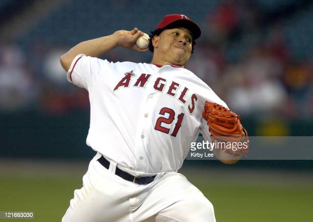 Anaheim Angels starter Bartolo Colon pitched 7 2/3 innings in 94 victory over the Kansas City Royals at Angel Stadium in Anahem Calif on Monday...