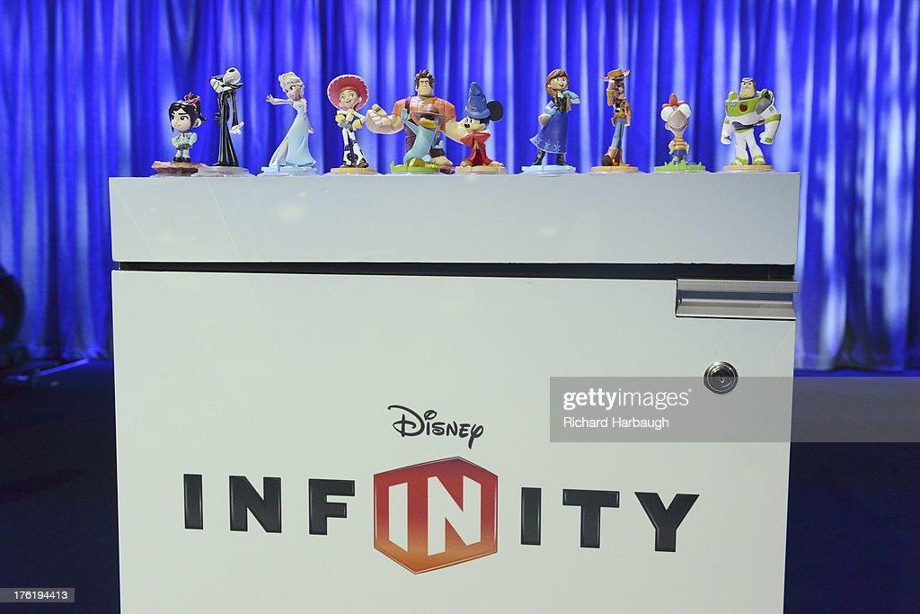 STAGE - Anaheim, California (August 11, 2013) - Disney Interactive premieres the web series 'Blank: A Vinylmation Love Story,' based on the Vinylmation franchise; demonstrates the just-announced video game Fantasia: Music Evolved; and places Disney Infinity center stage with several new surprises, including un-announced character reveals and game features. INFINITY
