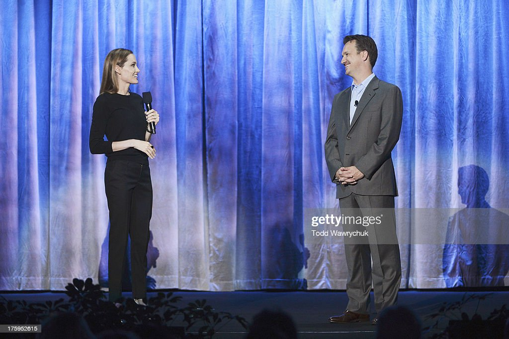 STUDIOS - Anaheim, California (August 10, 2013) - The Walt Disney Studios showcases the Studios' exciting live-action release slate, including Disney's 'Saving Mr. Banks' and 'Tomorrowland,' 'Marvel's Thor: The Dark World,' and much more. ANGELINA JOLIE, SEAN BAILEY (PRESIDENT,