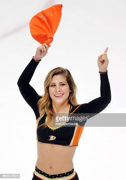 Anaheim Ducks power player on the ice after the Ducks defeated the Montréal Canadiens 6 to 2 in a game played on October 20 2017 at the Honda Center...