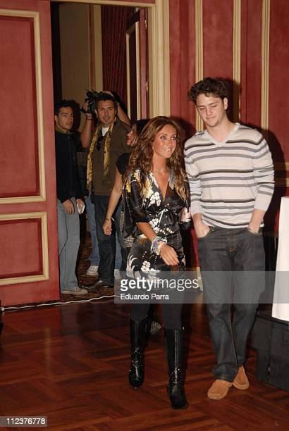 Anahi and Christopher of RBD during RBD Press Conference in Madrid January 8 2007 at Palace Hotel in Madrid Spain