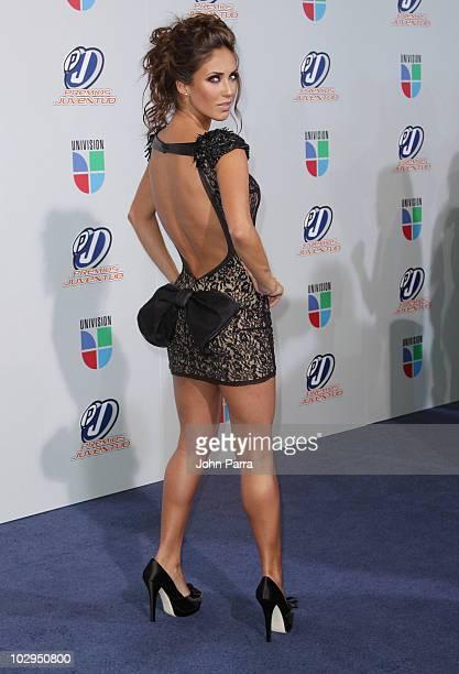 Anahi arrives at the Univision Premios Juventud Awards at BankUnited Center on July 15 2010 in Miami Florida