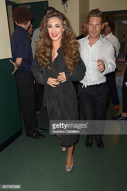 Anahi attends the Univision's 13th Edition Of Premios Juventud Youth Awards at Bank United Center on July 14 2016 in Miami Florida