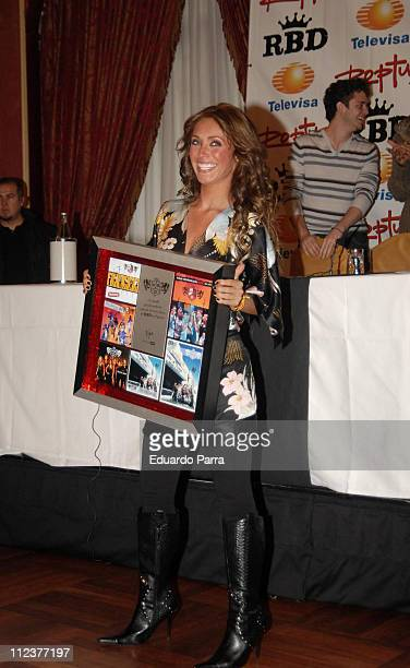Anahi of RBD during RBD Press Conference in Madrid January 8 2007 at Palace Hotel in Madrid Spain