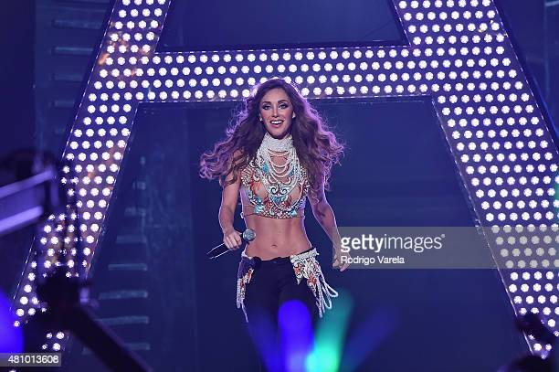 Anahi performs onstage at Univision's Premios Juventud 2015 at Bank United Center on July 16 2015 in Miami Florida