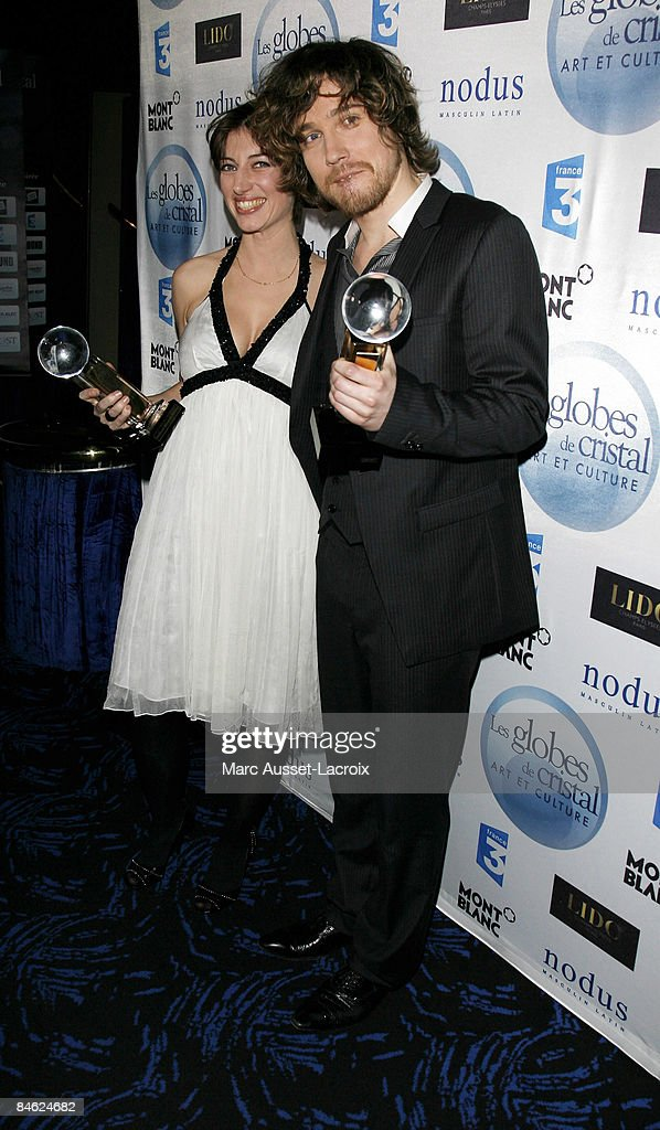Anais and Julien Dore attends Globes of Cristal Awards for Art and Culture on February 2, 2009 in Paris France