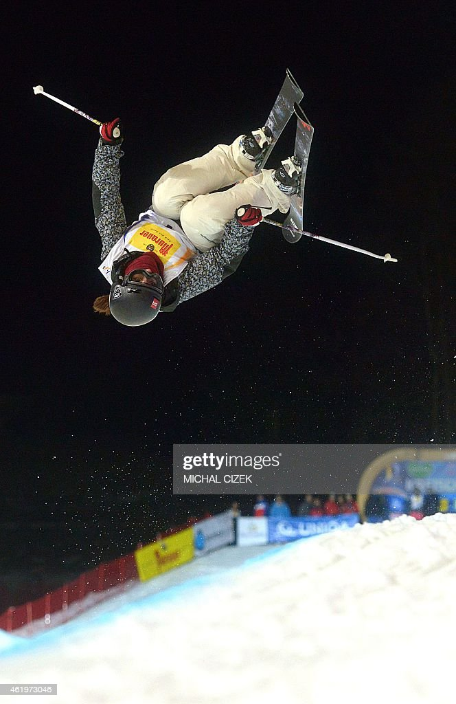 Anais Caradeux of France competes during the Women's Ski Halfpipe Final at FIS Freestyle and Snowboarding World Ski Championships 2015 in Kreischberg, Austria on January 22, 2015. AFP PHOTO / MICHAL CIZEK