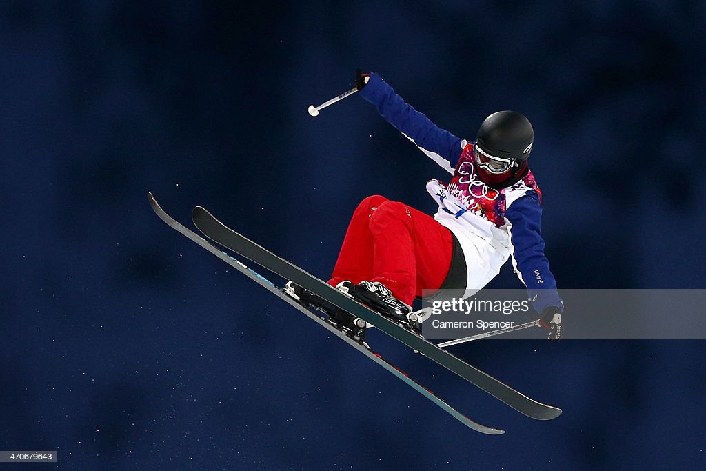 Anais Caradeux of France competes in the Freestyle Skiing Ladies' Ski Halfpipe Qualification on day thirteen of the 2014 Winter Olympics at Rosa Khutor Extreme Park on February 20, 2014 in Sochi, Russia.