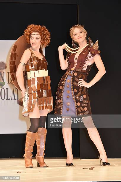 Anais Delva dressed by Valerie Pache and chocolated by Stephane Bonnat and Maya Lauque dressed by Elise Chalmin and chocolated by Vincent...