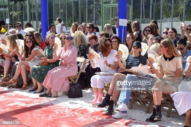 Anais Demoustier Alysson Paradis Mademoiselle Agnes Celine Sallette and Dolores Doll attend the Bonpoint Haute Couture Fall/Winter 20172018 show as...