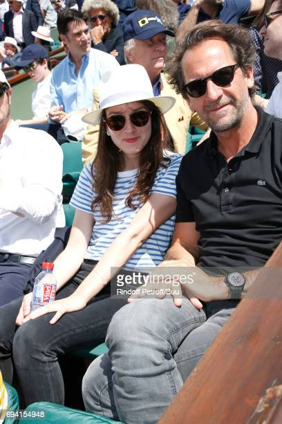 Anais Demoustier and Stephane De Groodt attend the 2017 French Tennis Open Day Thirteen at Roland Garros on June 9 2017 in Paris France