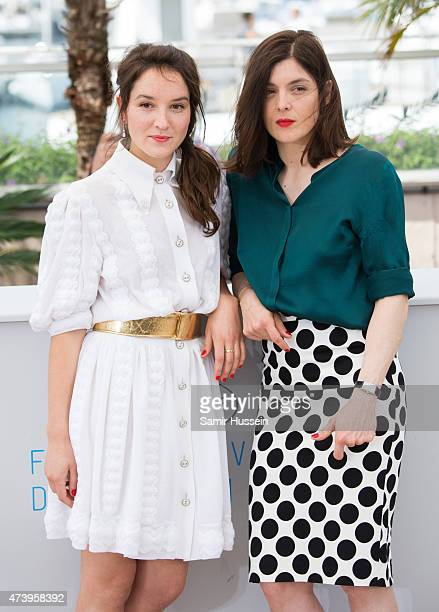 Anais Demoustier and Valerie Donzelli attend the 'Marguerite Julien' Photocall during the 68th annual Cannes Film Festival on May 19 2015 in Cannes...