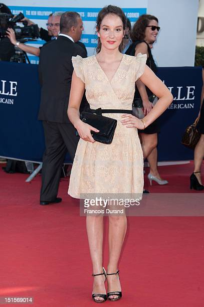 Anais Demoustier arrives at the closing ceremony of the 38th Deauville American Film Festival on September 8 2012 in Deauville France