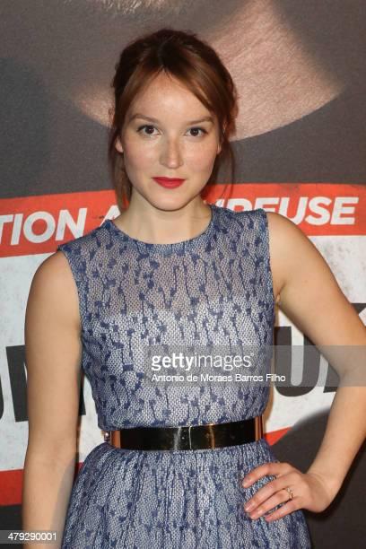 Anais Demoustier attends Situation Amoureuse C'Est Complique premiere at Cinema UGC Normandie on March 17 2014 in Paris France