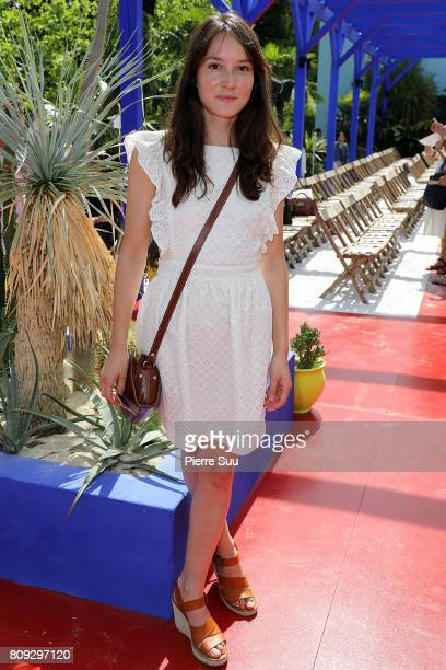 Anais Demoustier attends the Bonpoint Haute Couture Fall/Winter 20172018 show as part of Haute Couture Paris Fashion Week on July 5 2017 in Paris...