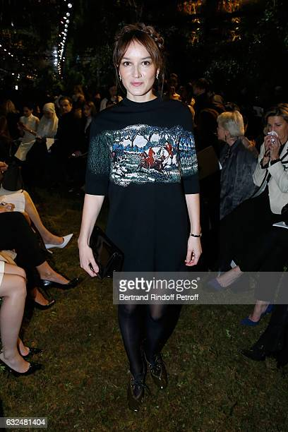 Anais Demoustier attends the Christian Dior Haute Couture Spring Summer 2017 show as part of Paris Fashion Week on January 23 2017 in Paris France