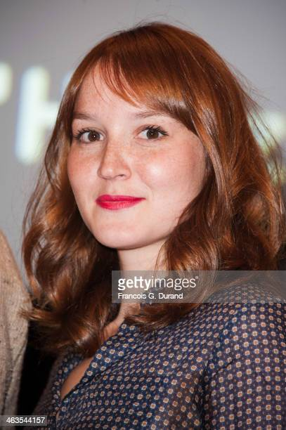 Anais Demoustier attends the closing ceremony of the 17th L'Alpe D'Huez International Comedy Film Festival on January 18 2014 in L'Alpe d'Huez France