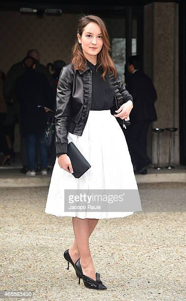 Anais Demoustier attends the Miu Miu show as part of Paris Fashion Week Fall Winter 2015/2016 on March 11 2015 in Paris France