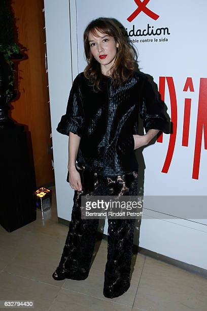 Anais Demoustier attends the Sidaction Gala Dinner 2017 Haute Couture Spring Summer 2017 show as part of Paris Fashion Week on January 26 2017 in...