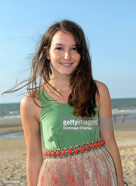 Anais Demoustier poses on the beach during the Cabourg Film Festival on June 11 2010 in Cabourg France