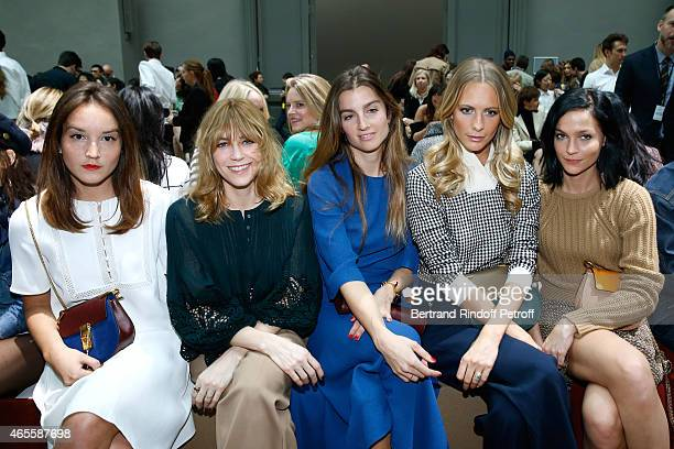 Anais Demoustier Sonia Sieff Poppy Delevingne and Leigh Lezark attend the Chloe show as part of the Paris Fashion Week Womenswear Fall/Winter...