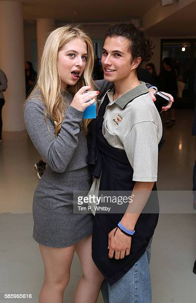 Anais Gallagher and Dom Sesto attend the Reebok Classic 90's Collection Event on August 4 2016 at Rook and Raven Gallery in London England Anais...