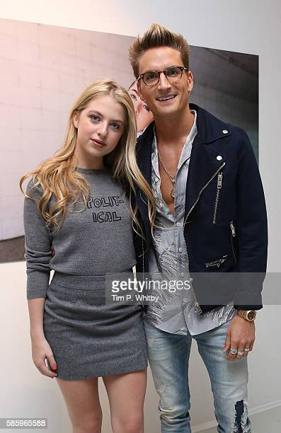 Anais Gallagher and Oliver Proudlock attend the Reebok Classic 90's Collection Event on August 4 2016 at Rook and Raven Gallery in London England...