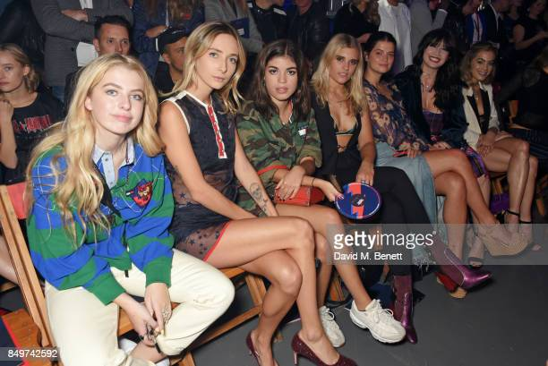 Anais Gallagher guest Molly Moorish Tigerlily Taylor Pixie Geldof Daisy Lowe and Chelsea Leyland attend the Tommy Hilfiger TOMMYNOW Fall 2017 Show...