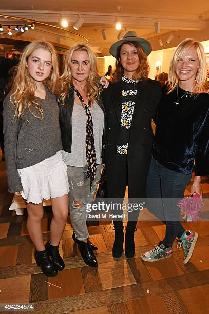 Anais Gallagher Meg Mathews Lisa Moorish and Jo Whiley attend the relaunch of the Harrods Toy Kingdom on October 25 2015 in London England