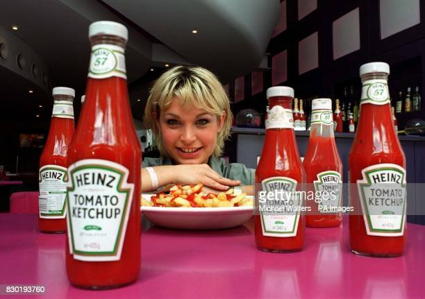 Anais Nuytten from Normandy in France helps Ketchup maker Heinz launch a multimillion pound campaign to promote its famous tomato sauce in London...