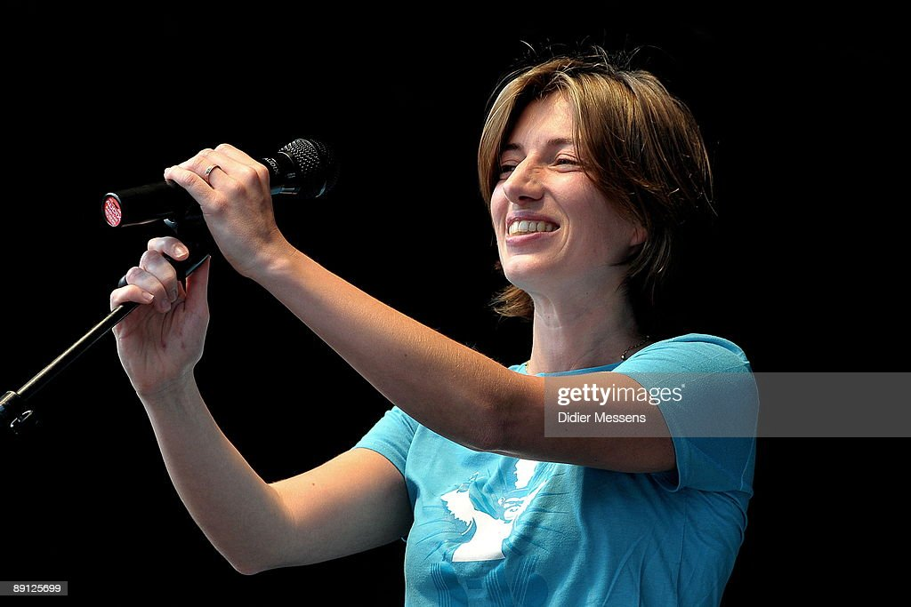 Anais performs on stage on the third day of Francofolies de Spa Festival on July 19, 2009 in Spa, Belgium.